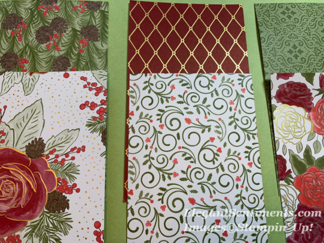 Six pieces of Christmastime is Here DSP by Stampin Up