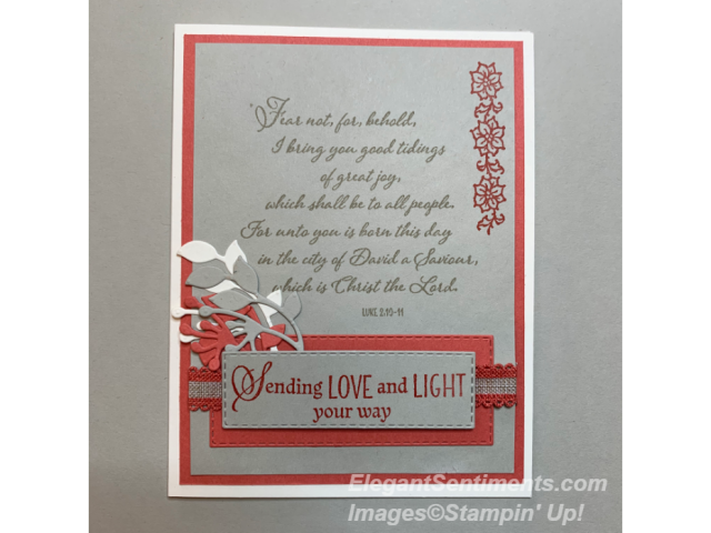 Christmas card featuring Stampin Up products