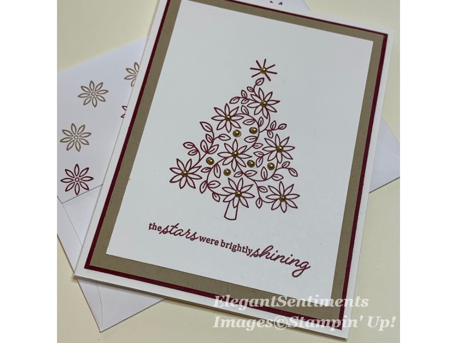 Christmas card with tree Stampin Up products
