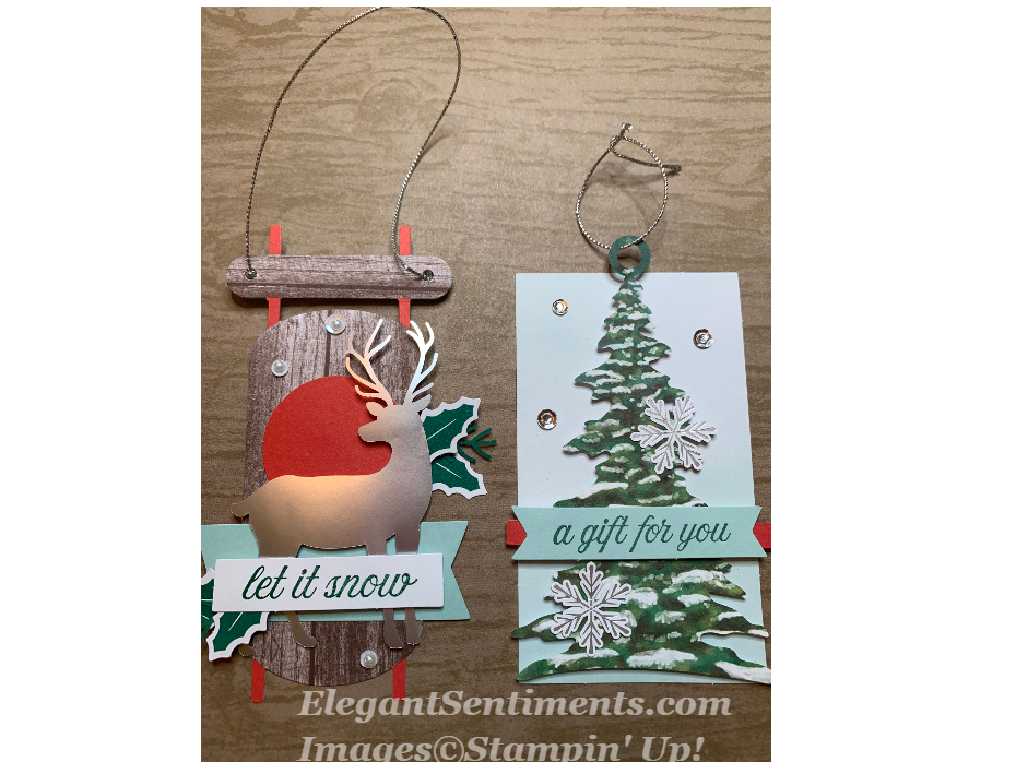 Christmas Gift Tags using Stampin Up Paper Pumpkin products