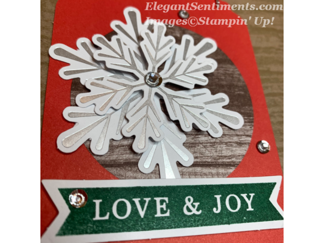 Gift tag using Paper Pumpkin from Stampin Up