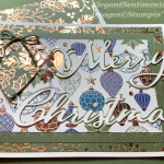 Christmas card with ornaments and foil from Stampin