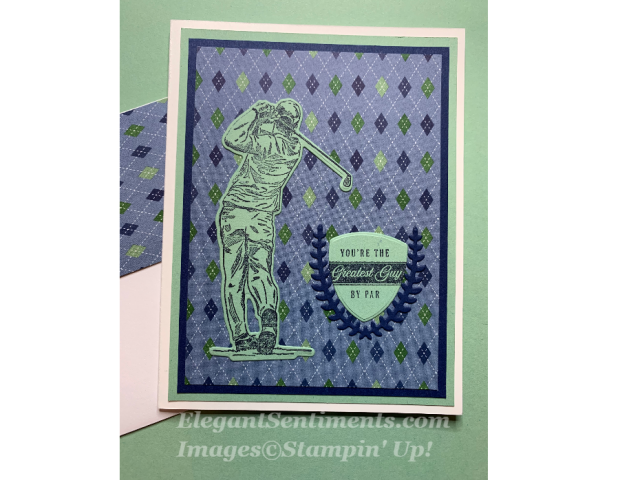 A birthday with a golfer created with Stampin Up! products