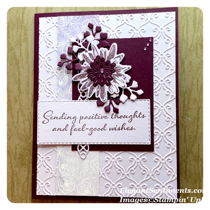 Greeting card featuring Stampin' Up products