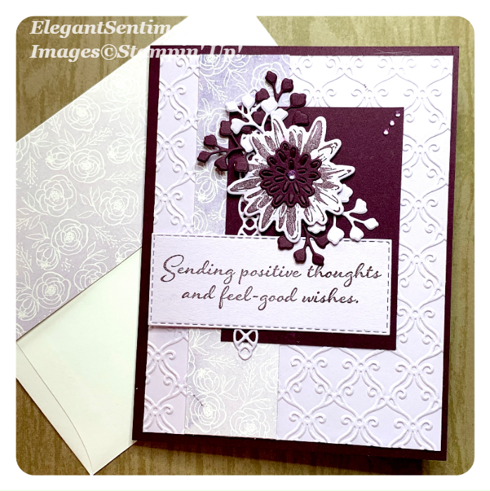 Get well card and envelope using Stampin' Up products