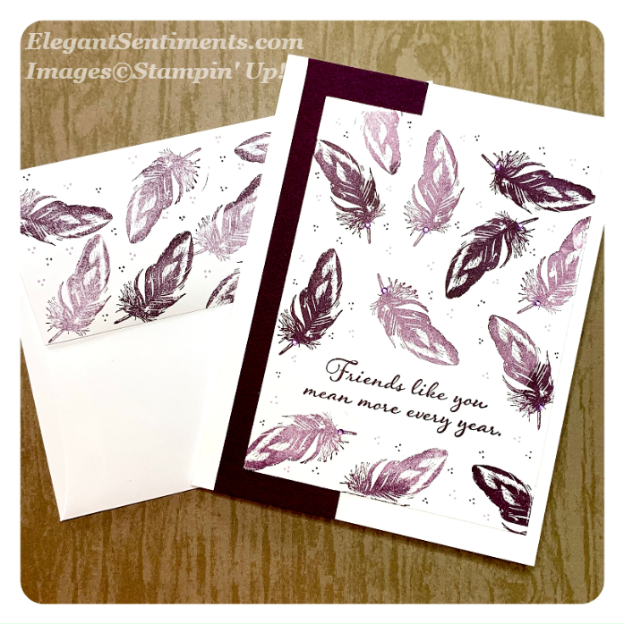 Friendship card with envelope using Stampin Up products