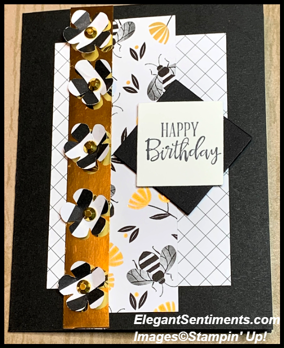 Birthday card Featuring Stampin' Up! products
