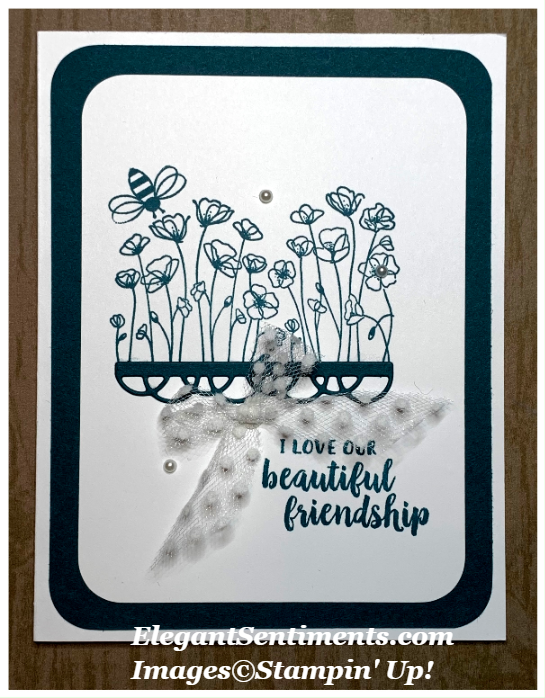 Friendship card wirh flowers featuring Stampin' Up! products