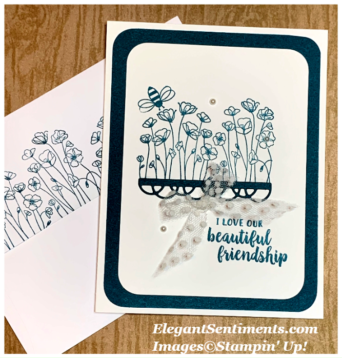 Floral friendship card featuring Stampin' Up! products