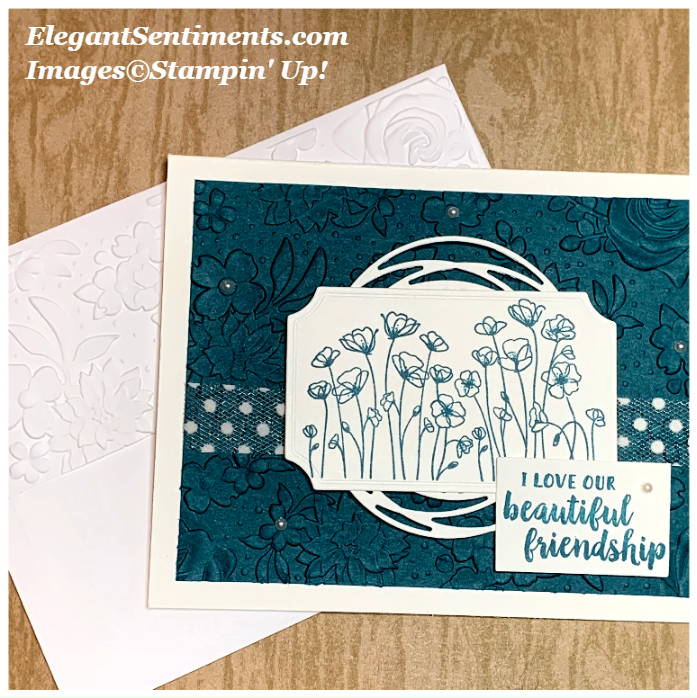 Floral friendship card with envelope featuring Stampin' Up! products