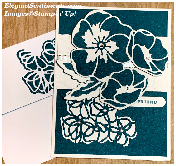 Floral card and envelope Featuring Stampin' Up! products