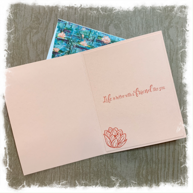 Friendship card and envelope featuring Stampin Up products