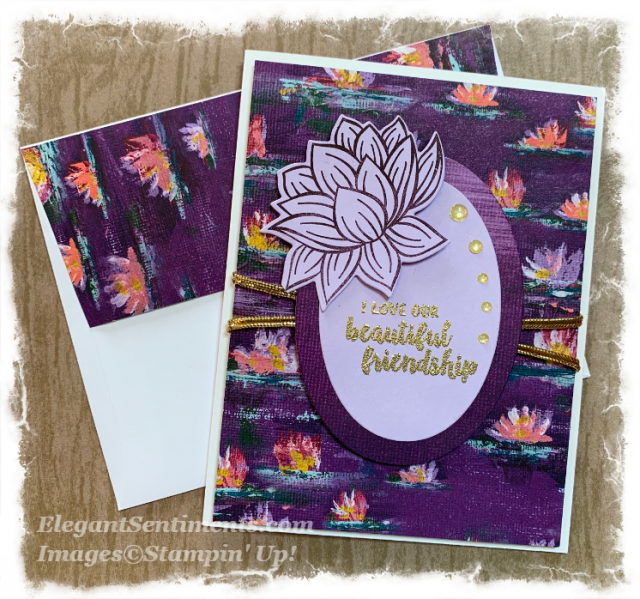 Friendship card with envelope featuring Stampin' Up! products