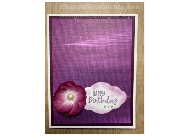 Birthday card with a flower using Stampin' Up! products