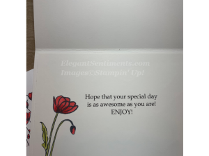 Birthday card and envelope featuring Stampin Up products