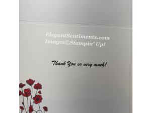A Thank You card with Envelope and Greeting using Stampin Up products