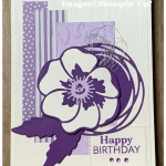 Birthday card with Poppy using Stampin Up products
