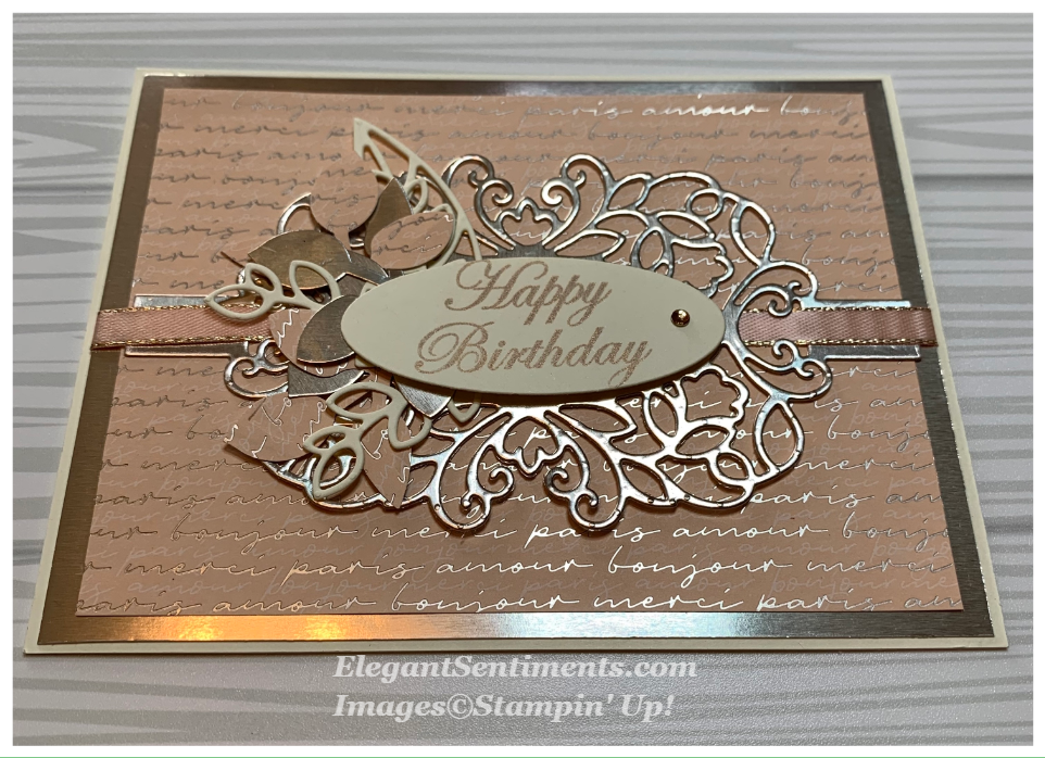 Happy birthday card featuring Stampin' Up products