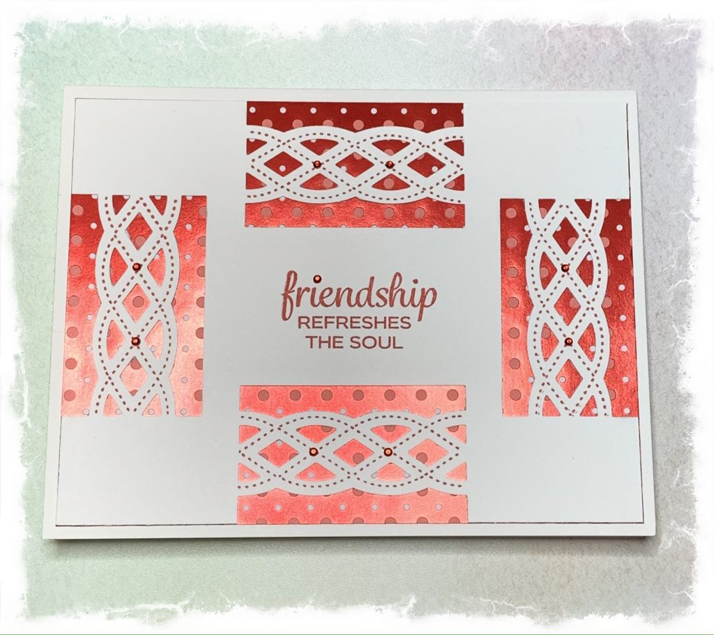 Friendship card made with Stampin Up products