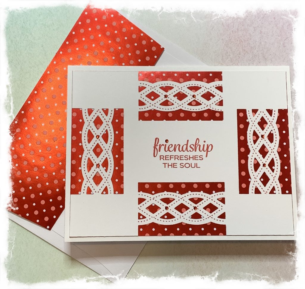 Friendship card with envelope made with Stampin' Up products