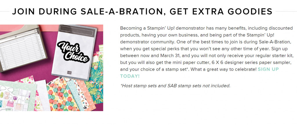 Information about Stampin Up Saleabration