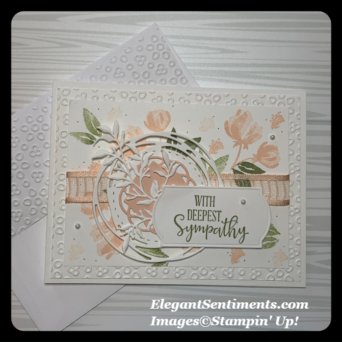 Sympathy card and envelope made with Stampin' Up products