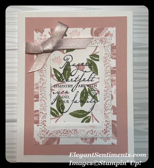 Sympathy Card made with Stampin Up products