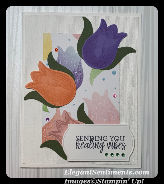 Get well card made using Stampin' Up products