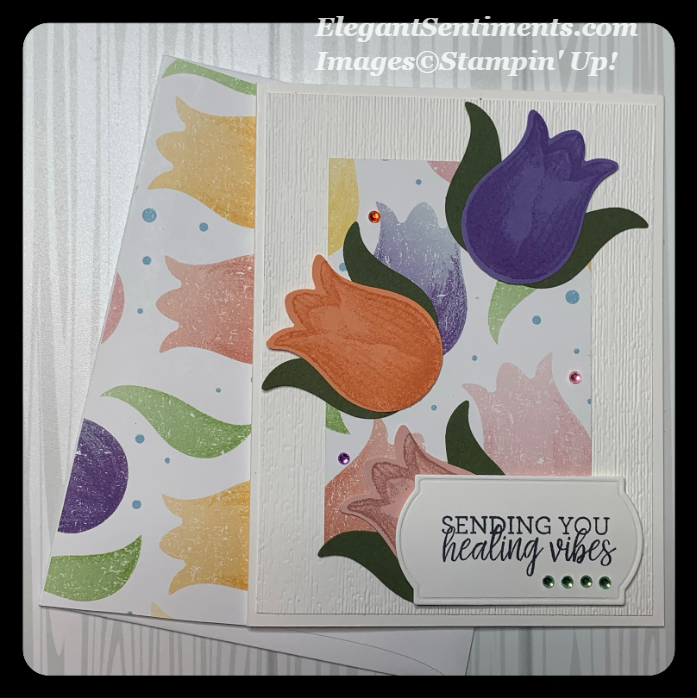 Get well card and envelope made using Stampin Up products