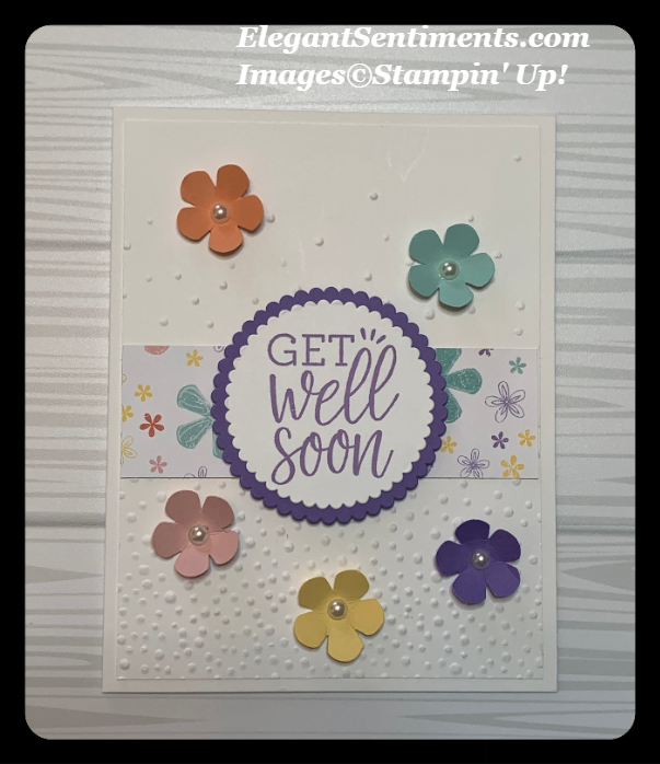 Get well card made with Stampin Up products