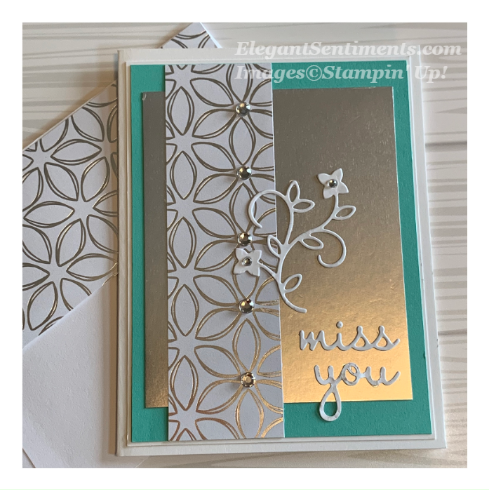 Miss You greeting card made with Stampin Up products!