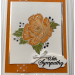 Sympathy card featuring Stampin
