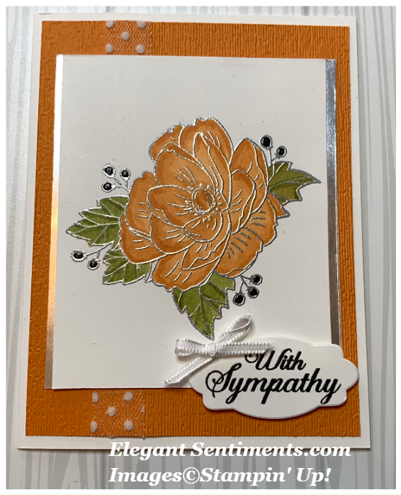Sympathy card featuring Stampin' Up products