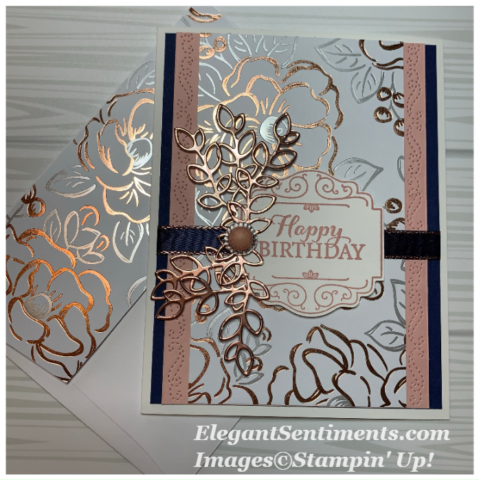 Birthday card with envelope made with Stampin Up products