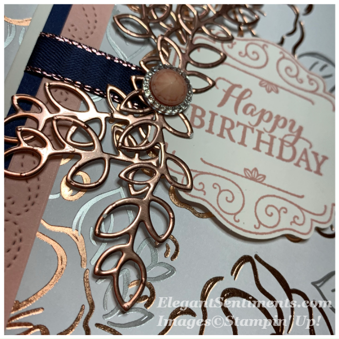 Close up of birthday card made with Stampin Up products