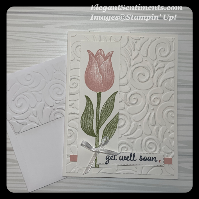 Get Well card with envelope made using Stampin Up products