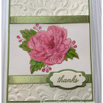 Thank you card made with Stampin Up! products