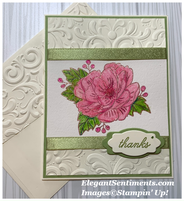 Thank You card and Envelope made with Stampin' Up! products