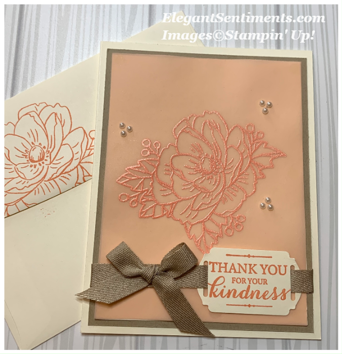 Thank You card with Envelope made with Stampin' Up! products