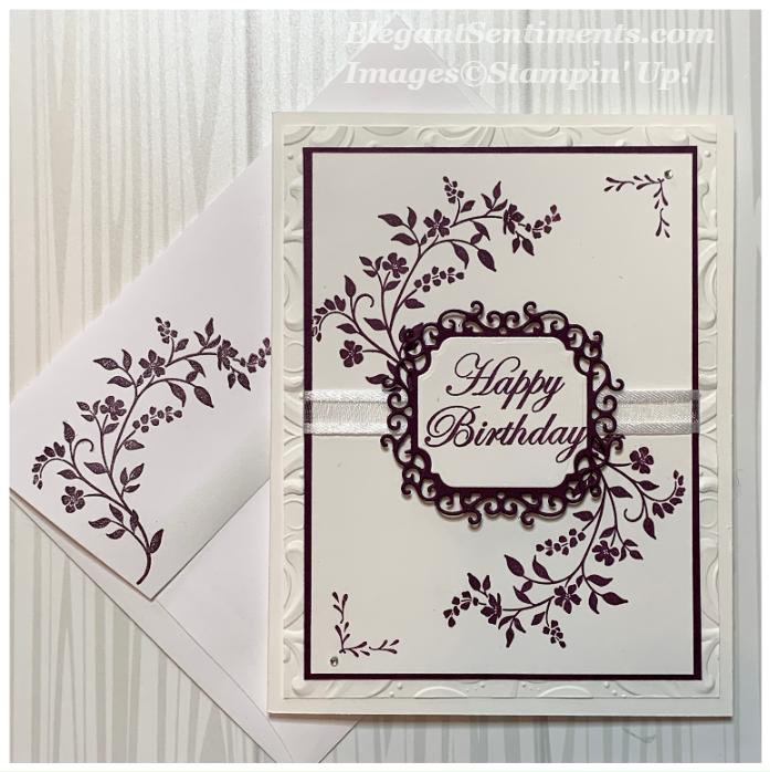 Birthday card and envelope made with Stampin' Up! products