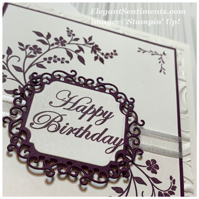 Close up of a birthday card made with Stampin' Up! products