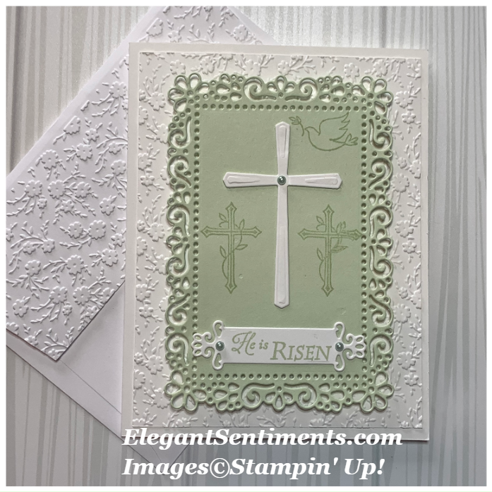 Easter Card and envelope made with Stampin' Up! products