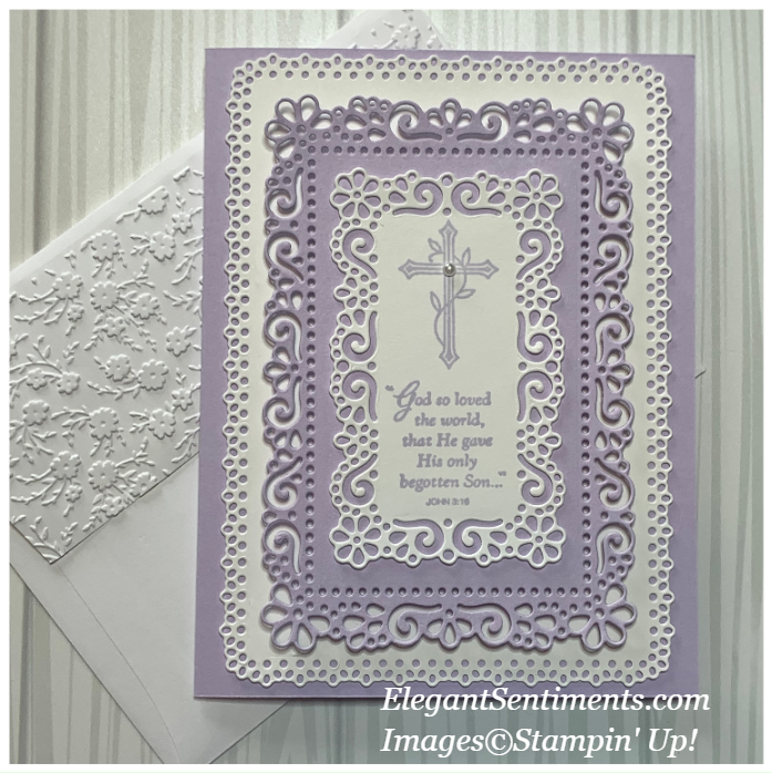 Easter Card with Envelope made with Stampin' Up! products