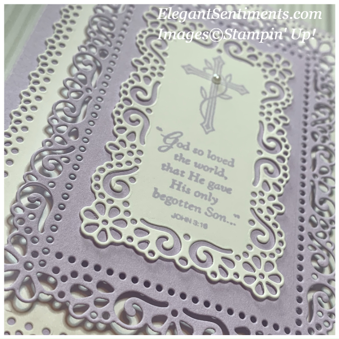 Close up of Easter Card made with Stampin' Up! products