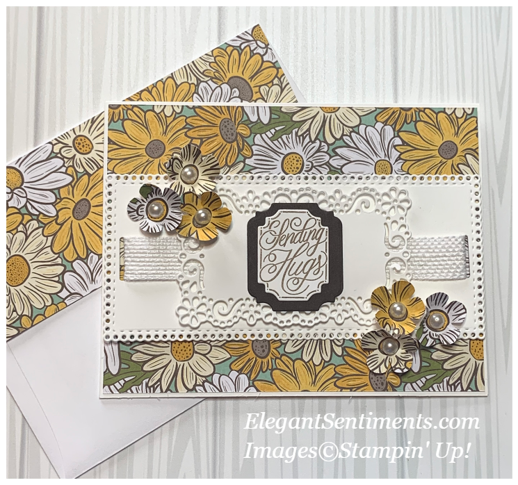 Thinking of you card with envelope made with Stampin' Up! products