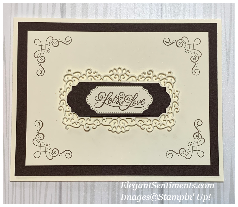 Greeting card made with Stampin' Up! products