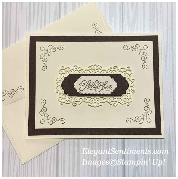Greeting card and envelope made with Stampin' Up! products