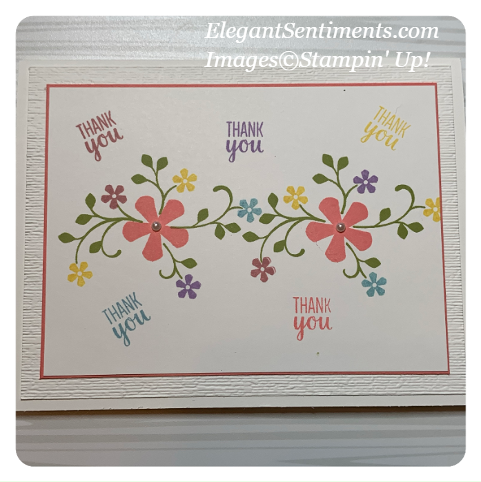 Thank you greeting card made with Stampin' Up! products