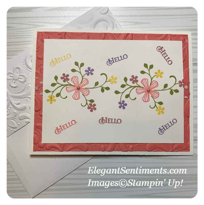 Greeting card and enveloppe made with Stampin' Up!