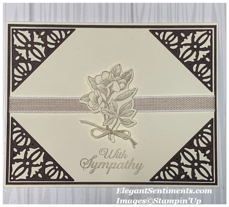 Sympathy card featuring Stampin' Up! products